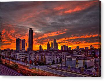 Sunrise Atlantic Station Midtown Atlanta Canvas Print