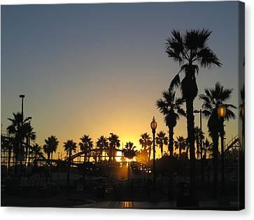 Sunrise Belmont Park San Diego 1 Canvas Print