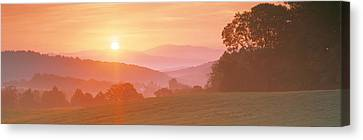 Orb Canvas Print - Sunrise Caledonia Vt Usa by Panoramic Images