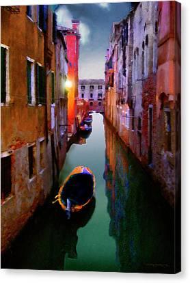 Sunrise Canal Canvas Print