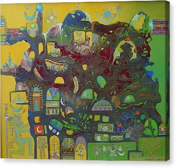 Sunrise City Canvas Print by Hira Bosh