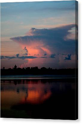 Sunrise Cloud Reflection Canvas Print by Diane Merkle