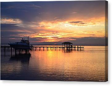 Canvas Print featuring the photograph Sunrise Colors On The Sound by Jeff at JSJ Photography