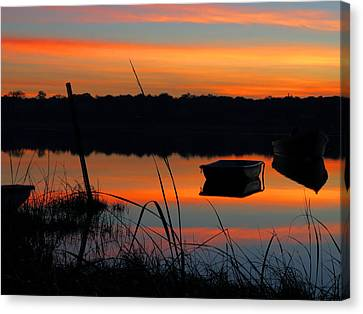 Canvas Print featuring the photograph Sunrise Cove  by Dianne Cowen