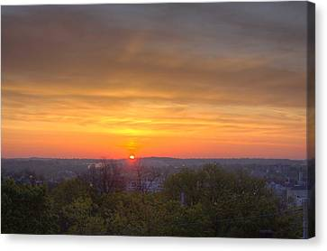 Canvas Print featuring the photograph Sunrise by Daniel Sheldon