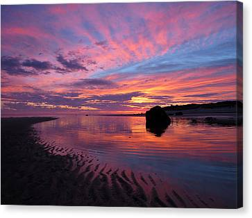Canvas Print featuring the photograph Sunrise Drama by Dianne Cowen
