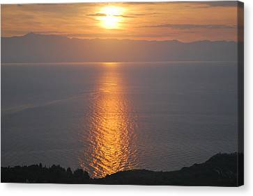 Sunrise Erikousa 1 Canvas Print by George Katechis