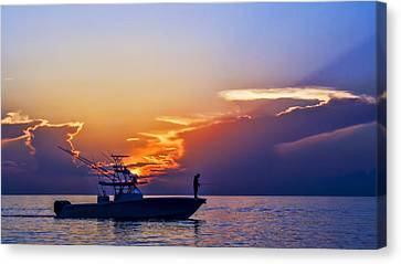 Sunrise Fishing Canvas Print by Don Durfee