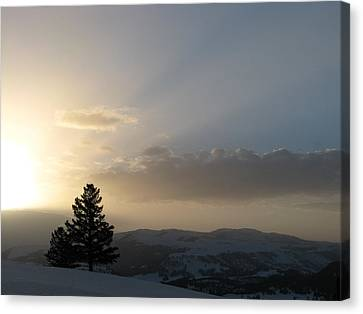 Sunrise From Blacktail Plateau 05 Canvas Print
