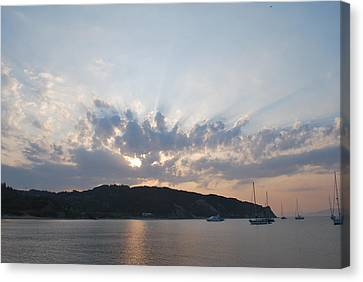 Canvas Print featuring the photograph Sunrise by George Katechis