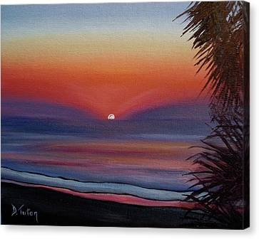 Canvas Print featuring the painting Sunrise Glow by Donna Tuten