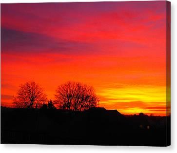 Sunrise Harrow Canvas Print