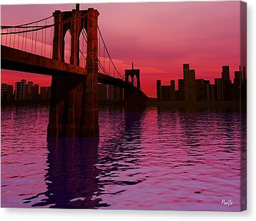 Sunrise In Brooklyn Canvas Print