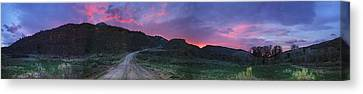 Sunrise In Colorado Canvas Print