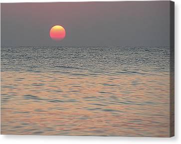 Sunrise In Crete Canvas Print by Sergey Simanovsky