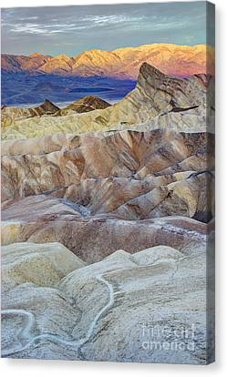 Contours Canvas Print - Sunrise In Death Valley by Juli Scalzi