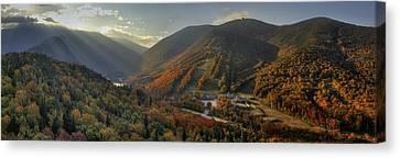 Sunrise In Franconia Notch Canvas Print