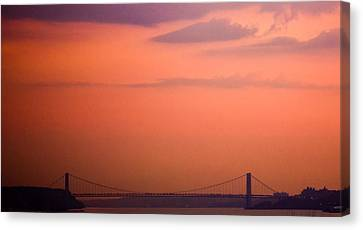 Sunrise In New York Canvas Print by Sara Frank