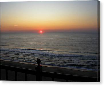 Canvas Print featuring the photograph Sunrise In Ocean City by Victoria Lakes