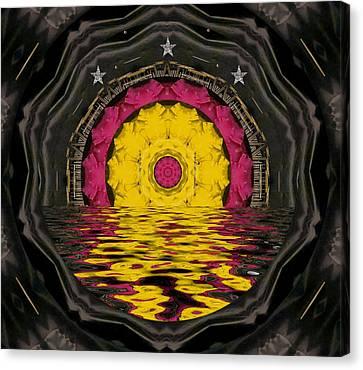 Sunrise In Paradise Pop Art Canvas Print by Pepita Selles