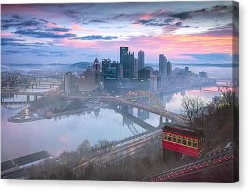 Steelers Canvas Print -  Pittsburgh Fall Day by Emmanuel Panagiotakis
