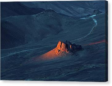 Hoggar Canvas Print - Sunrise In Saharan Mountains by Martin Rietze