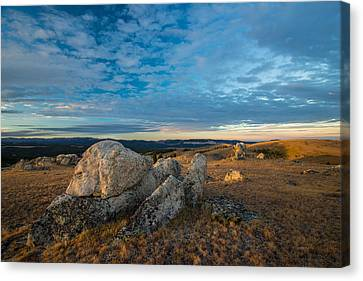Sunrise In The Bighorn Mountains Canvas Print by Leland D Howard