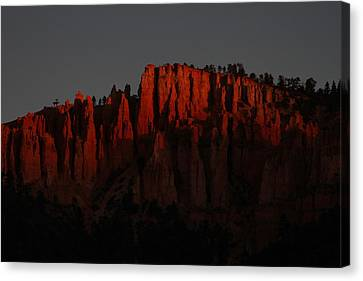 Sunrise In The Desert Canvas Print by Menachem Ganon