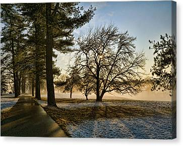 Canvas Print featuring the photograph Sunrise In The Park by Robert Culver