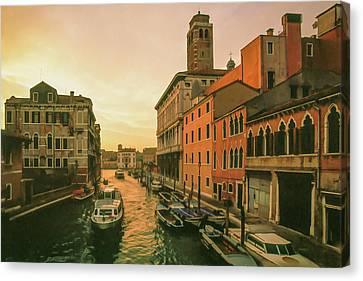 Italian Landscape Canvas Print - Sunrise In Venice by Cliff Wassmann
