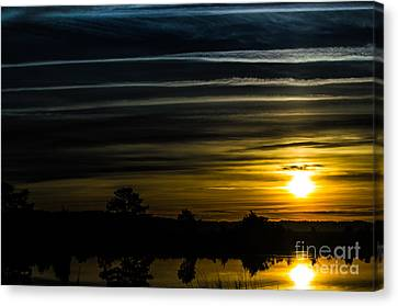 Canvas Print featuring the photograph Sunrise In Virginia by Angela DeFrias