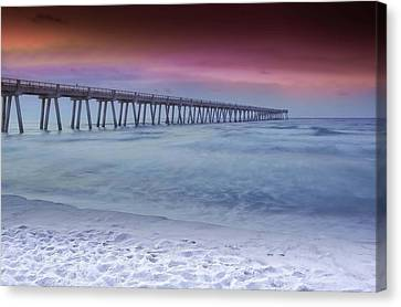 Sunrise In Winter Canvas Print