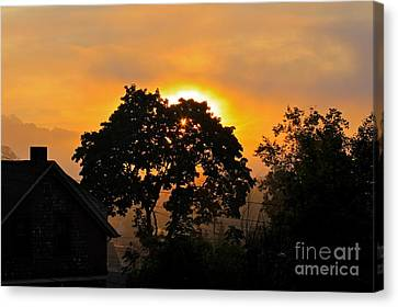 Canvas Print featuring the photograph Sunrise by Jay Nodianos