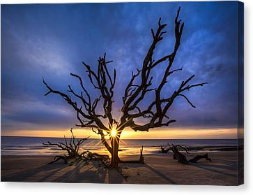 Saint Canvas Print - Sunrise Jewel by Debra and Dave Vanderlaan