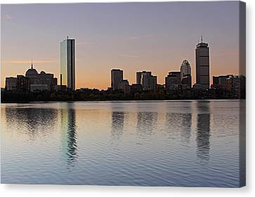 Charles River Canvas Print - Sunrise by Juergen Roth