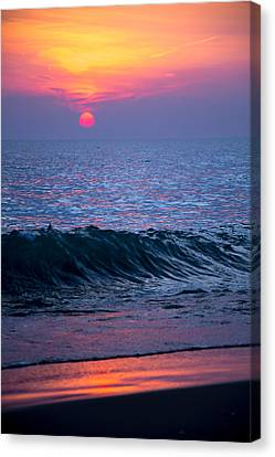 Sunrise Lake Michigan October 5th 001 Canvas Print by Michael  Bennett