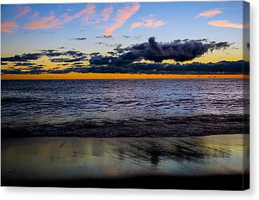 Canvas Print featuring the photograph Sunrise Lake Michigan September 14th 2013 003 by Michael  Bennett