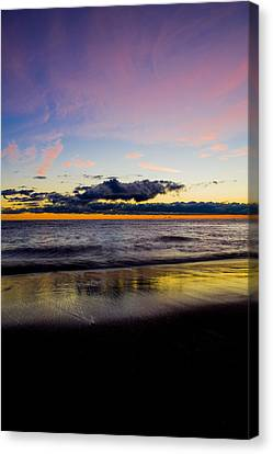 Canvas Print featuring the photograph Sunrise Lake Michigan September 14th 2013 010 by Michael  Bennett