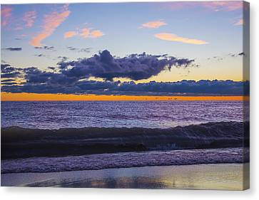 Canvas Print featuring the photograph Sunrise Lake Michigan September 14th 2013 011 by Michael  Bennett