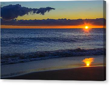 Canvas Print featuring the photograph Sunrise Lake Michigan September 14th 2013 020 by Michael  Bennett