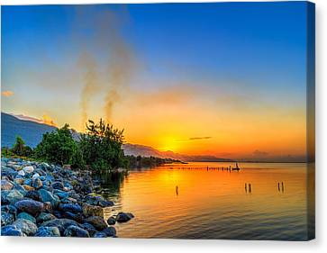 Sunrise Canvas Print by Lechmoore Simms
