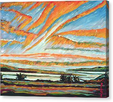 Sunrise Les Eboulements Quebec Canvas Print by Patricia Eyre
