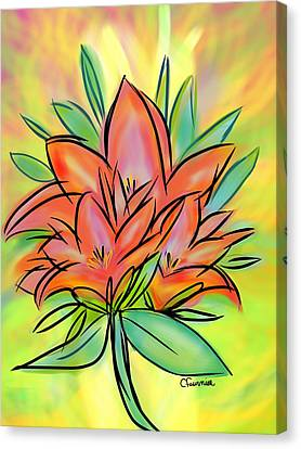 Sunrise Lily Canvas Print by Christine Fournier