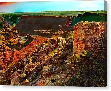 Sunrise Lipan Point Grand Canyon Canvas Print by Bob and Nadine Johnston