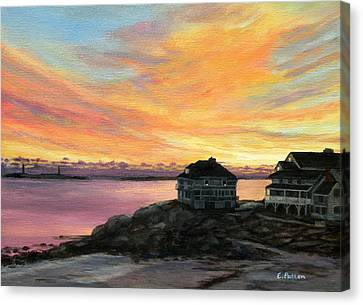 Sunrise Long Beach Rockport Ma Canvas Print by Eileen Patten Oliver