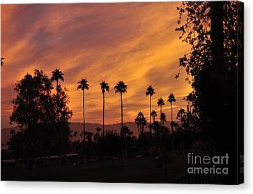 Sunrise Looking East Towards Mecca Canvas Print