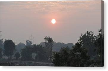 Sunrise Canvas Print by Makarand Kapare