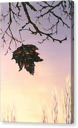 Canvas Print featuring the painting Sunrise by Natasha Denger