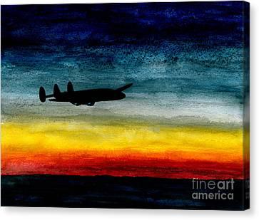 Sunrise Near Iceland Canvas Print by R Kyllo