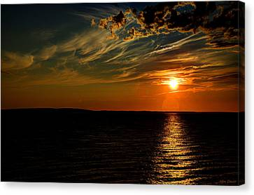 Sunrise Off Of Charlettetown Canvas Print